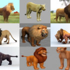Top Lion 3D Models: Realistic Lion, Cartoon Lion, Statue Lion