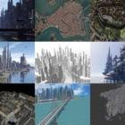 Скачать 10 бесплатных моделей городской архитектуры 3D: Манхэттен, Венеция, Гавана, Средневековье, Научно-фантастический город