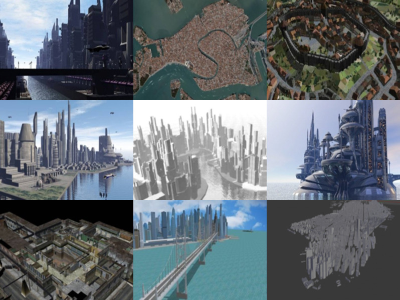 Download 10 Cityscape Architecture Free 3D Models: Manhattan, Venice, Havana, Medieval, Sci-fi City