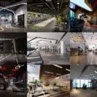 10 Gym Room Interior Scene Free 3ds Max Models: Sport Center, Club, Gym Area Design