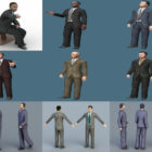 Download 10 Realistic Businessman Character Free 3D Models: Rigged Character, Young Man, Old Man, Sitting & Walking Pose