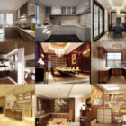 10 Free Kitchen Interior Scene 3ds Max Files: Bedroom, Restaurant, Lobby, Reception, Pool, Lounge Space, Toilet