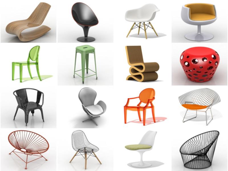 20 Free 3D Models of Modernism & Minimalist Chair: Armchair, Recliner Chair, Bar Chair, Restaurant Chair, Office Chair