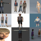 Download 10 Realistic Boy Free 3D Character Models: Boy, Child, Teenager, Children…