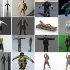 Download 20 Realistic Man Free 3D Character Models: Office Man, Police, Soldier, Old Man, Demon, Mafia…
