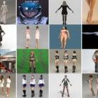 Last ned 20 realistiske kvinne gratis 3D-karaktermodeller 2021: Danserjente, kvinneben, Wonder Woman, vakker jente, videregående jente ...