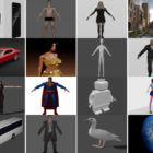 Top 30 Files Blender 3D Models 2021 for Free Download: Character, Phone, Building, Car, Animal…