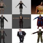High Detailed 10 Realistic Character in Blender 3D Models 2021: Man, Woman, Girl, Devil, Footballer, Alien