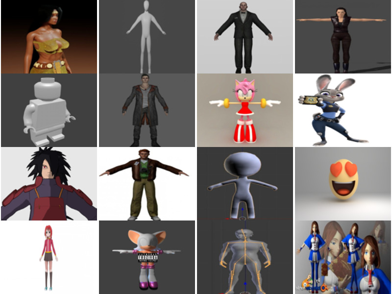20 Most Viewed Blender Character Free 3D Models 2021