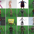 Top 20 ilmaiseksi Collada 3D-hahmot: Tyttö, Robocop, Hämähäkkimies, Hulk, Petoeläin, Godzilla…