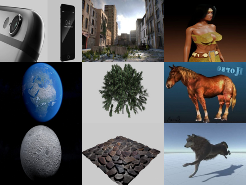 10 High Quality Free Blender 3D Models: Character, Phone, Tree, Grass, Animal, Planet, Building