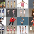 20 Beauty Girl Character 3ds Max Models: Pretty Woman, Young Girl, Bikini, School Girl…