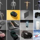 20 Files Blender Free 3D Models: Character Base Body, Electronic, Vehicle Car