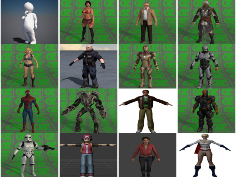 Download 20 Collada Dae Free 3D Models: Character, Girl, Man, Robot, Rigged