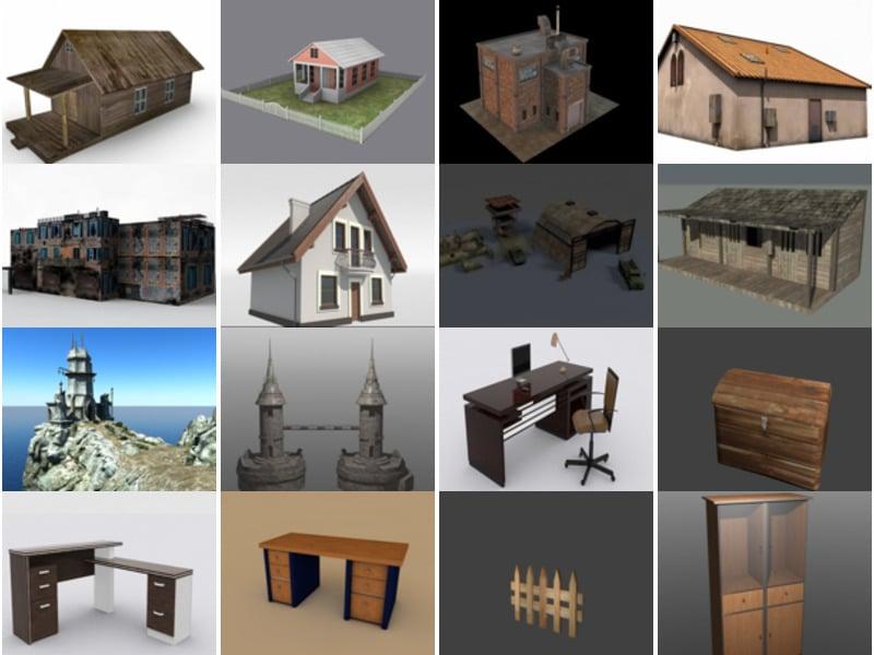 Top 20 FBX Free 3D Models: Architecture Building, Modern Furniture