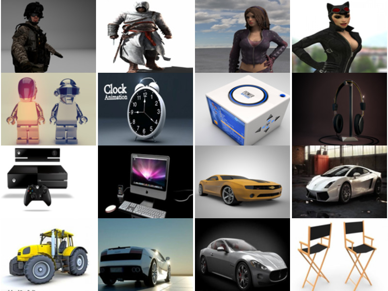 Top 20 High Quality Cinema 4D Free 3D Models: Character, Electronic Gadget, Vehicle, Furniture
